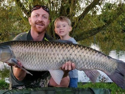 carp fishing 33 lb France